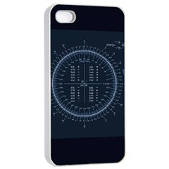 Minimalistic Knowledge Mathematics Trigonometry Apple iPhone 4/4s Seamless Case (White)