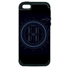 Minimalistic Knowledge Mathematics Trigonometry Apple iPhone 5 Hardshell Case (PC+Silicone)