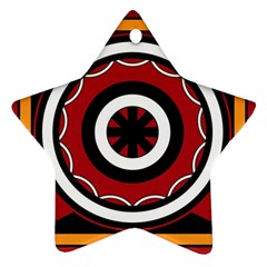Toraja Pattern Pa barre Allo Star Ornament (Two Sides)