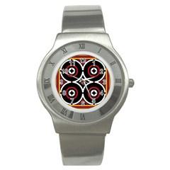 Toraja Pattern Ne limbongan Stainless Steel Watch