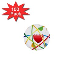Love 1  Mini Buttons (100 pack)