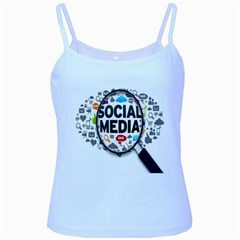 Social Media Computer Internet Typography Text Poster Baby Blue Spaghetti Tank