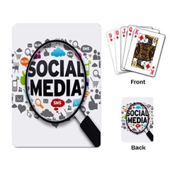 Social Media Computer Internet Typography Text Poster Playing Card