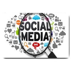 Social Media Computer Internet Typography Text Poster Large Doormat