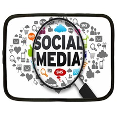 Social Media Computer Internet Typography Text Poster Netbook Case (Large)