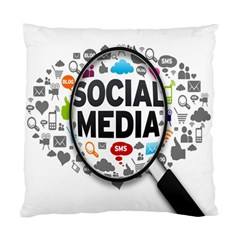 Social Media Computer Internet Typography Text Poster Standard Cushion Case (Two Sides)