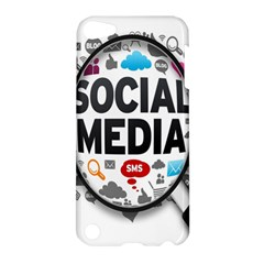 Social Media Computer Internet Typography Text Poster Apple iPod Touch 5 Hardshell Case