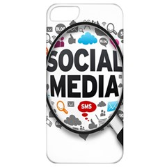 Social Media Computer Internet Typography Text Poster Apple iPhone 5 Classic Hardshell Case