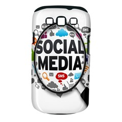 Social Media Computer Internet Typography Text Poster Samsung Galaxy S III Classic Hardshell Case (PC+Silicone)