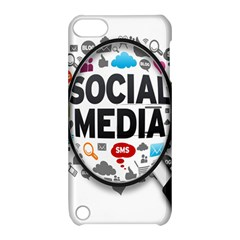 Social Media Computer Internet Typography Text Poster Apple iPod Touch 5 Hardshell Case with Stand