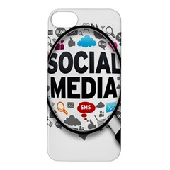 Social Media Computer Internet Typography Text Poster Apple iPhone 5S/ SE Hardshell Case