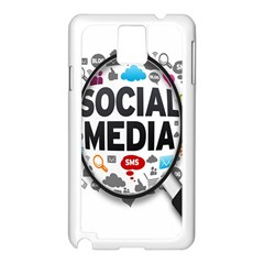 Social Media Computer Internet Typography Text Poster Samsung Galaxy Note 3 N9005 Case (White)