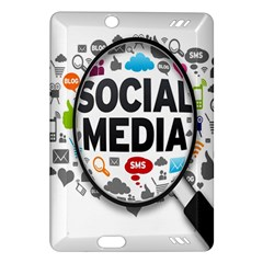 Social Media Computer Internet Typography Text Poster Amazon Kindle Fire HD (2013) Hardshell Case