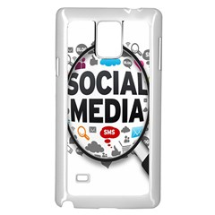 Social Media Computer Internet Typography Text Poster Samsung Galaxy Note 4 Case (White)