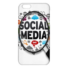 Social Media Computer Internet Typography Text Poster iPhone 6 Plus/6S Plus TPU Case