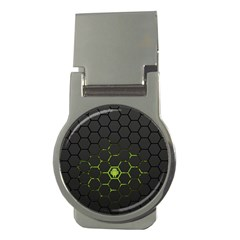 Green Android Honeycomb  Money Clips (Round)
