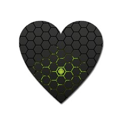 Green Android Honeycomb  Heart Magnet