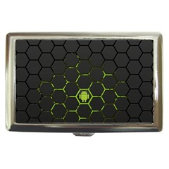 Green Android Honeycomb  Cigarette Money Cases