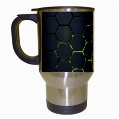 Green Android Honeycomb  Travel Mugs (White)