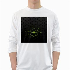 Green Android Honeycomb  White Long Sleeve T-Shirts
