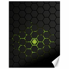 Green Android Honeycomb  Canvas 12  x 16