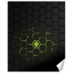 Green Android Honeycomb  Canvas 16  x 20