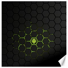 Green Android Honeycomb  Canvas 20  x 20