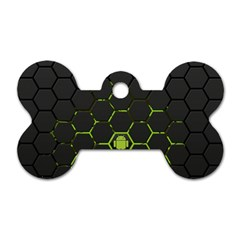 Green Android Honeycomb  Dog Tag Bone (Two Sides)