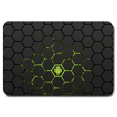 Green Android Honeycomb  Large Doormat
