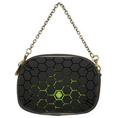 Green Android Honeycomb  Chain Purses (One Side)