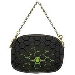 Green Android Honeycomb  Chain Purses (Two Sides)