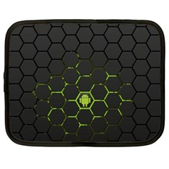 Green Android Honeycomb  Netbook Case (XXL)