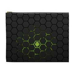 Green Android Honeycomb  Cosmetic Bag (XL)