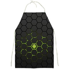 Green Android Honeycomb  Full Print Aprons
