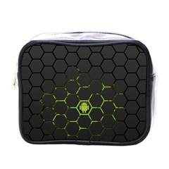 Green Android Honeycomb  Mini Toiletries Bags