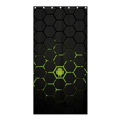 Green Android Honeycomb  Shower Curtain 36  x 72  (Stall)