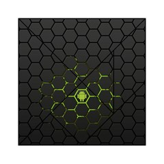 Green Android Honeycomb  Acrylic Tangram Puzzle (6  x 6 )