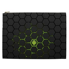 Green Android Honeycomb  Cosmetic Bag (XXL)