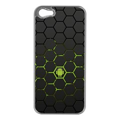 Green Android Honeycomb  Apple iPhone 5 Case (Silver)