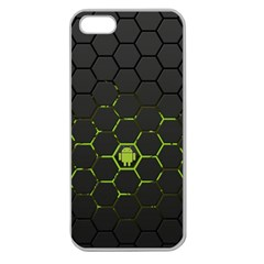 Green Android Honeycomb  Apple Seamless iPhone 5 Case (Clear)