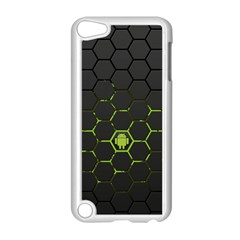 Green Android Honeycomb  Apple iPod Touch 5 Case (White)