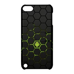 Green Android Honeycomb  Apple iPod Touch 5 Hardshell Case with Stand