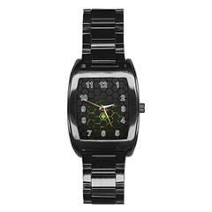 Green Android Honeycomb  Stainless Steel Barrel Watch