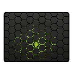 Green Android Honeycomb  Double Sided Fleece Blanket (Small)