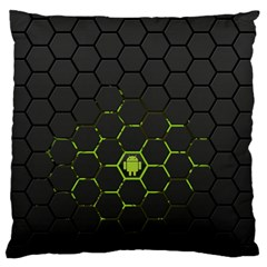 Green Android Honeycomb  Large Flano Cushion Case (One Side)