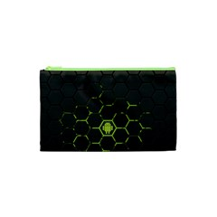 Green Android Honeycomb  Cosmetic Bag (XS)