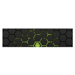 Green Android Honeycomb  Satin Scarf (Oblong)