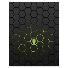 Green Android Honeycomb  Drawstring Bag (Large)