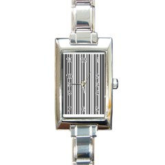 Barcode Pattern Rectangle Italian Charm Watch