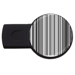 Barcode Pattern USB Flash Drive Round (1 GB)